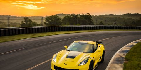 2017 Corvette Grand Sport on the track