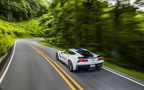 2017 Corvette Grand Sport on the road