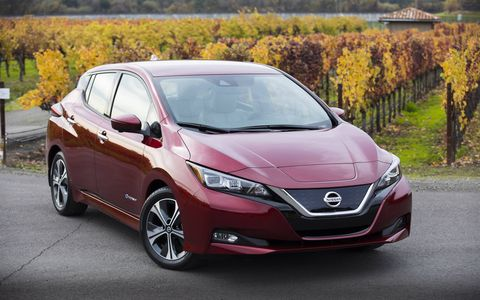 The 2018 Nissan Leaf comes with ProPILOT Assist, which is not autonomous driving, Nissan insists, but rahter, a single-lane driving assistance technology.