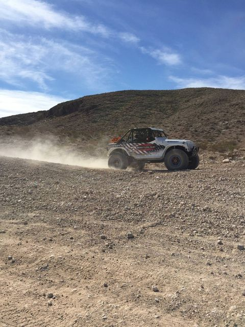 BFGoodrich let us play around in the desert on its new KM3 tire. Rob MacCachren gave thrill rides and a few pointers on tires.
