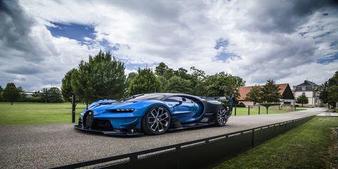 """The Bugatti Vision Gran Turismo was a playable car in """"Gran Turismo 6."""""""