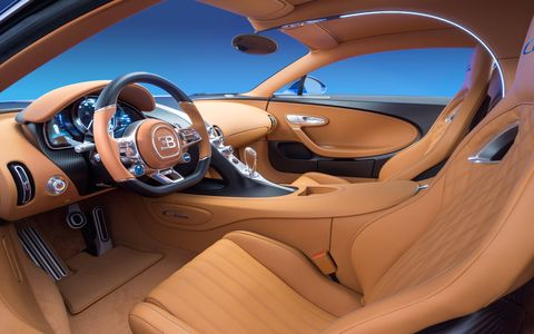 The Bugatti Chiron eclipses the Veyron with 1,500 hp and 1,180 lb-ft of torque.