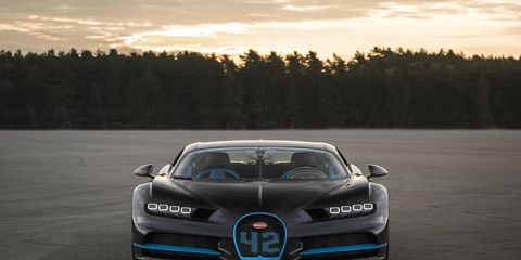 The Chiron went from zero to 248 mph to zero in 42 seconds.