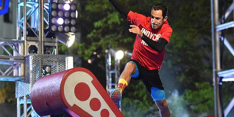 """Helio Castroneves competes on """"American Ninja Warrior."""" Fellow IndyCar drivers Josef Newgarden and Tony Kanaan also competed."""