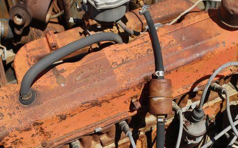 Rust, Orange, Iron, Nut, Wire, Machine, Engine, Cylinder, Electrical wiring, Fuel line,
