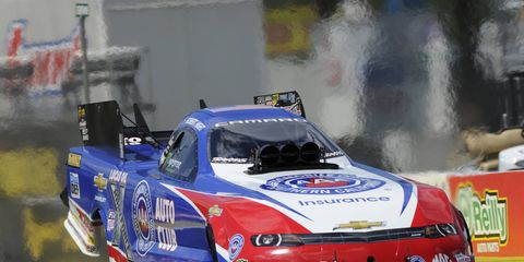 Mark Lyle oversaw plenty of action like this in his stint as the NHRA chief starter.