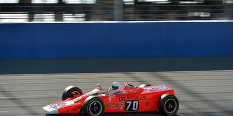 Speeds were kept to a minimum behind a pace car but driving a turbine-powered IndyCar was still pretty cool.