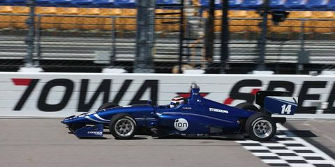 Max Chilton won the Indy Lights race in the memory of his former Formula One teammate, Jules Bianchi. Bianchi died on Friday from injuries sustained nine months ago in Japan.