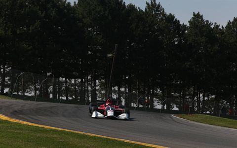 2018 Prototype Indycar pounds the pavement at Mid-Ohio Sports Car Course
