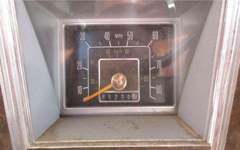 Symbolizing the Malaise Era, an 85 mph speedometer