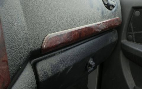 There's even some (fake) wood on the dash.