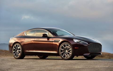 The Aston Martin Rapide offers real seating for four, though the rear seats are snug..