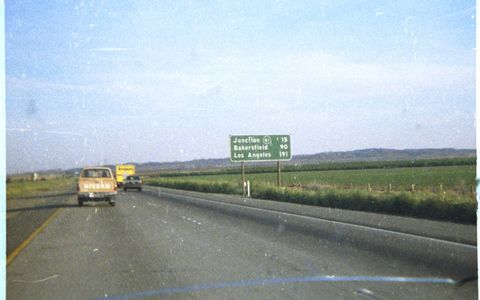 Shots taken on I-5 between Los Angeles and San Francisco, 1988-1989.