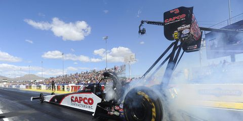 Steve Torrence held on to the top spot with his 3.720 run at 327.03 in his dragster from Friday