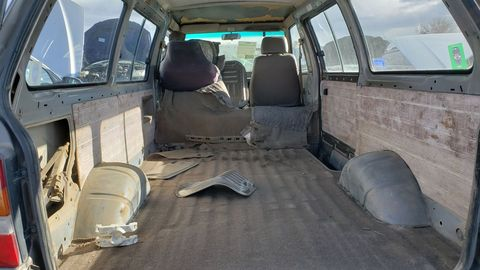 Even with the mid-engined/rear-wheel-drive layout, the cargo space was substantial in the Van.