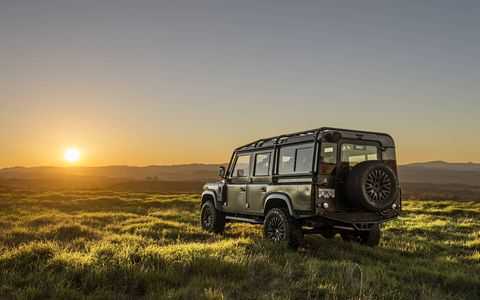 East Coast Defenders puts Corvette engines into old Land Rovers, adds luxury personalization throughout and sells them for between $170,000 and $250,000. We drove a Defender 90 and a 110 around L.A. and had a great time. Angelenos loved them, too.