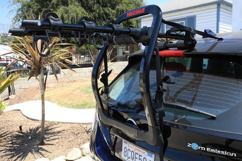 How do you increase the versatility of your already efficient electric Leaf? Add a bike rack!