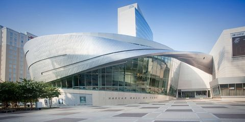 The NASCAR Hall of Fame in downtown Charlotte, North Carolina, had some windows broken in rioting on Wednesday night.