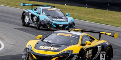 Alvaro Parente was awarded the victory at Mazda Raceway Laguna Seca on Sunday after a late ruling went against Johnny O'Connell.