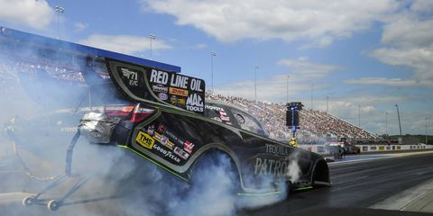Alexis DeJoria tries to make it two wins in a row on Sunday in Charlotte, North Carolina.