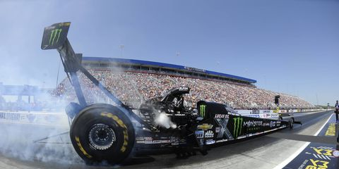 The win for Brittany Force was her second of the NHRA season and first at the Four-Wide Nationals.