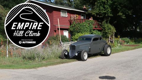 This righteous 1933 Ford sports an aggressive chop that rounds out its dry lakes look.
