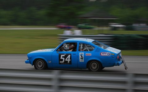 "The first Opel in Lemons was this 1978 Kadett, which was sold by Buick as the ""Opel Isuzu"". This car was once owned by the Richard Petty Experience and used as a track car by them. It's still competing in the series, at Southern races."