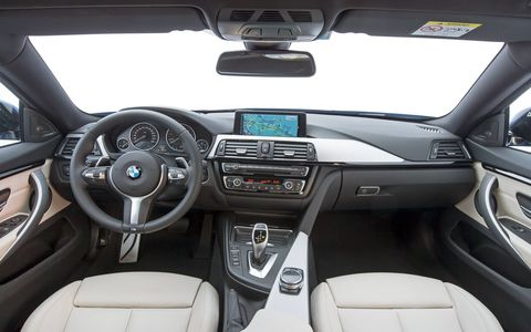 The 2018 BMW 4-Series Gran Coupe has a Wi-Fi hotspot for up to ten devices, two USB ports and Apple CarPlay.