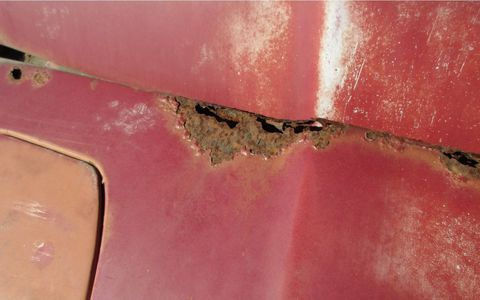 California cars rust from the top down, starting at body seams and gaps, when they do rust.