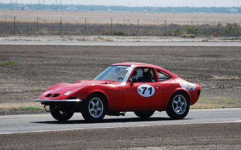 The first Lemons Opel GT was the fast-looking-but-not-so-reliable Team Calzones car, which debuted in California in 2009.