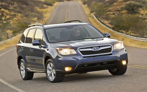 The 2015 Subaru Forester 2.5i Premium comes standard with Subaru's all-wheel drive.
