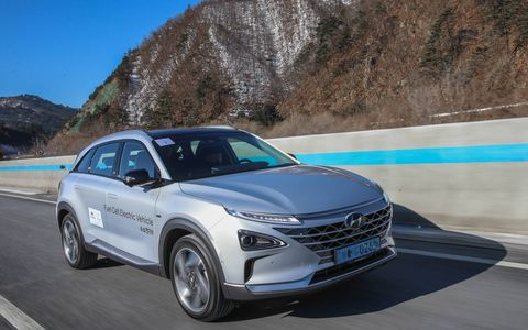 We drove, and it drove itself for a while, a Hyundai Nexo fuel cell vehicle from Seoul to the Winter Olympics. It did just fine. We should have taken it on the half pipe.