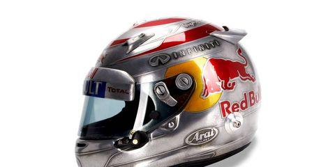 Sebastian Vettel's U.S. Grand Prix helmet.