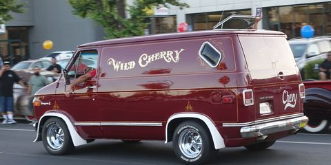 A gleaming Wild Cherry cruises Van Nuys Boulevard one last time.