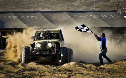 Erik Miller wins the Nitto King of the Hammers Powered by Optima Batteries, in Johnson Valley, California.