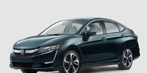 The Honda Clarity family will include a battery electric and hydrogen fuel cell in some markets, while the hybrid will be available nationwide.