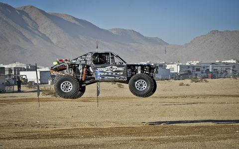 The Nitto King of the Hammers Powered by Optima Batteries, in Johnson Valley, California, may be the roughest, toughest desert race in the world, requiring the use of winches in several spots to get through.