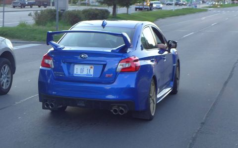 Not that he's bragging or anything, but his 2015 Subaru WRX STI Launch Edition is 1 OF 1K.