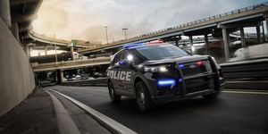The 2020 Ford Police Interceptor Utility comes with a standard hybrid powertrain and high tech safety features.