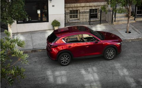 Mazda lifts the curtain off the new CX-5 at the LA Auto Show.