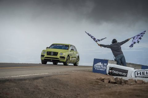 "A W12 Bentley Bentayga described as ""near-production specification"" completed the Pikes Peak Hill Climb course in an SUV-record 10:49.9."