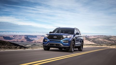 The performance variant of the 2020 Ford Explorer debuts at the Detroit auto show.
