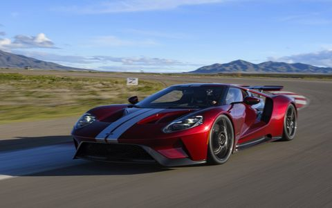 The Ford GT is a fabulous ontrack performer, using all of its 647 hp, with steering, suspension and brakes to match. There are still 250 available, with orders for those being taken early next year. Price is $450,000 apiece.