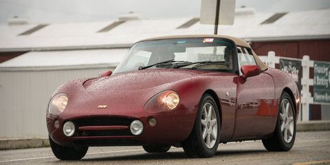 One of the late-model TVR that came down from Canada.