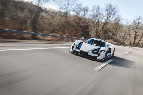 The 2018 SCG 003s out on the road, not an inconspicuous choice.