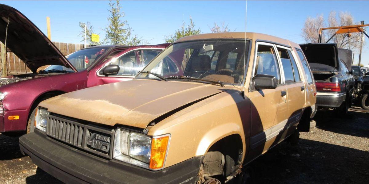junkyard treasure 1984 toyota tercel 4wd wagon 1984 toyota tercel 4wd wagon