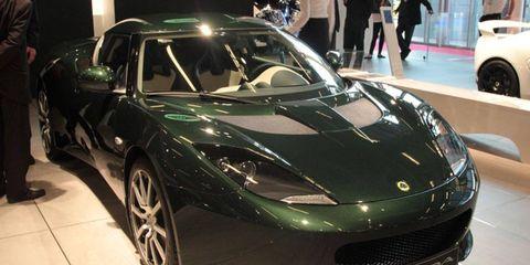 Paris Auto Show: Lotus Evora