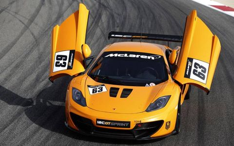 The McLaren 12C GT Sprint uses the same 3.8-liter twin-turbo V8 as the 12C.