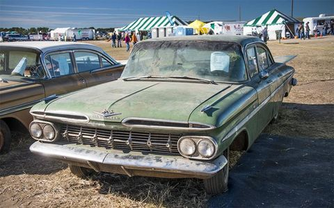 This 1959 Chevrolet Bel Air sedan sold for $14,000.