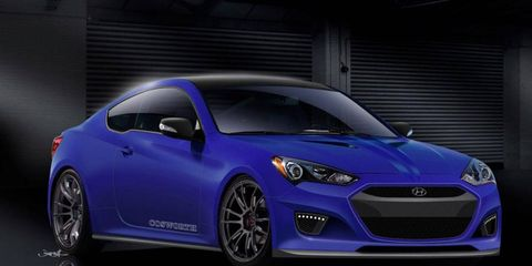 Hyundai has teamed up with Cosworth to create this tuned Genesis Coupe for the 2012 SEMA show.